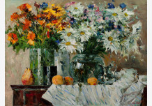 Still life with white drapery