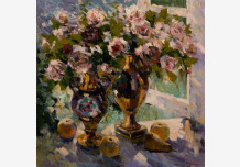 Roses at window