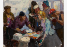 """Sketch, sketch for the painting """"Book pedlar in the shop"""""""