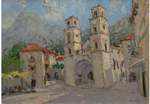 Kotor. The square at the Cathedral