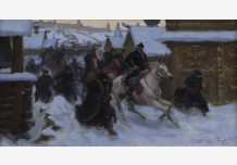 Departure of Ivan the Terrible from the Alexander settlement (sketch)