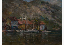 Noon in the port of Kotor