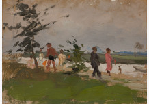 On the river bank