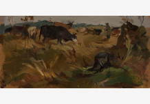 Shepherd and Cows