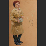 Portrait of soldier's wife