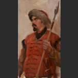 Warrior with lance (Portrait of Victor Philozoff )