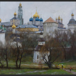 Trinity-Sergius Lavra. Grey day