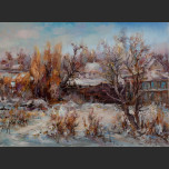 Winter on the outskirts of the village