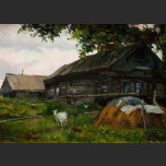 Rural landscape with a goat