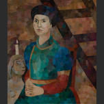 Portrait of a lady dressed in Mongolian