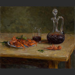 Still Life with boiled crawfish