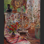 Still Life with a spinning wheel