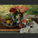 Still life with bouquet of roses