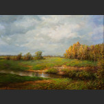 Autumn.  Steppe Brook