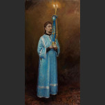 Sacristan with the candlestick