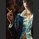 A girl with a cigarette