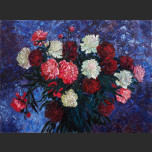 Peonies on a blue background