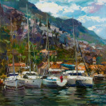 Noon. The town of Kotor