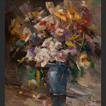Flowers in Blue Vase