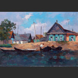 Sketch. In Astrakhan - floods