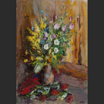 Still Life. Flowers, elderberry