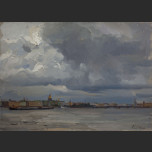 The sky over the Neva